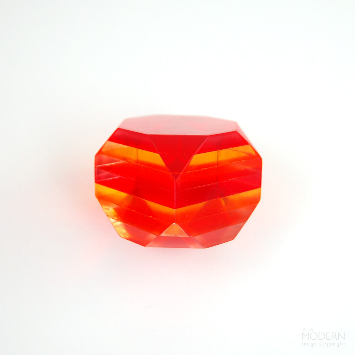Lucite Polygon Paperweight