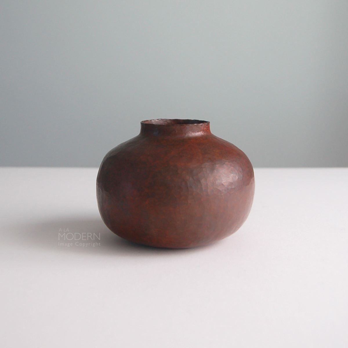 Ramon ramirez mexican copper hammered arts crafts vase on a la modern a beautiful arts and crafts style hammered copper vase by mexican metalsmith ramon ramirez wonderful bulbous small form with thin edge and mouth reviewsmspy
