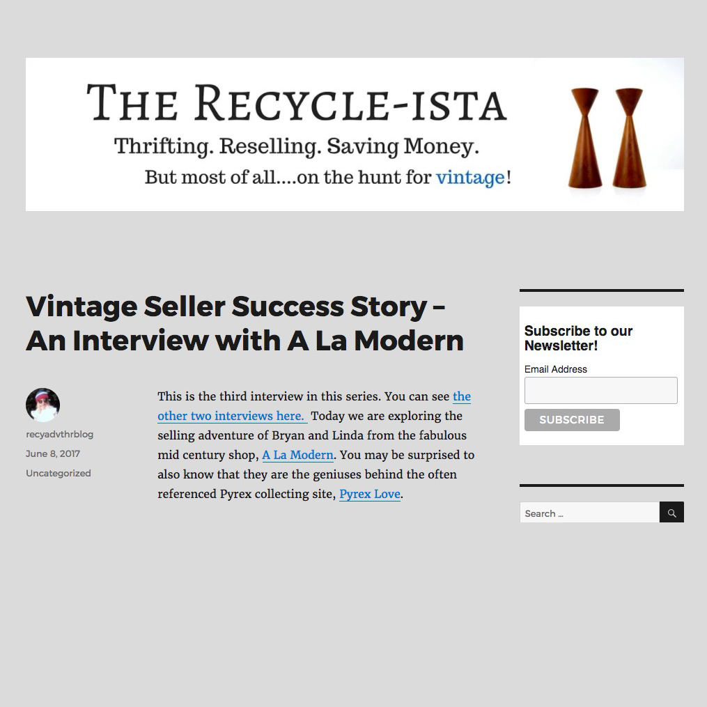 Recycle-ista Vintage Reseller Success Story